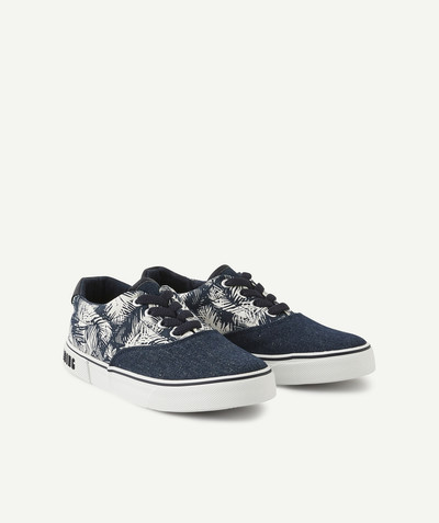 Outlet radius - TROPICAL PRINT LOW-TOP SNEAKERS WITH ELASTICATED AND ADJUSTABLE LACES.
