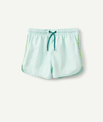 Swimwear family - SEA GREEN SWIMMING SHORTS WITH CONTRASTING BANDS