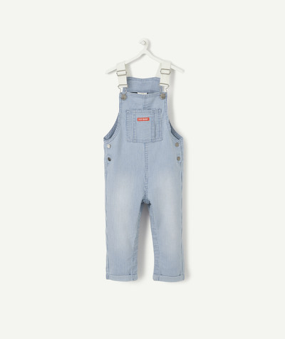 ECODESIGN radius - STRIPED DENIM DUNGAREES