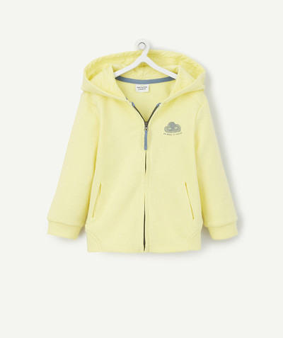 All collection radius - YELLOW ZIPPED JACKET WITH A HOOD