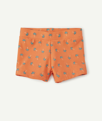Swimwear family - ORANGE PRINTED BOXERS