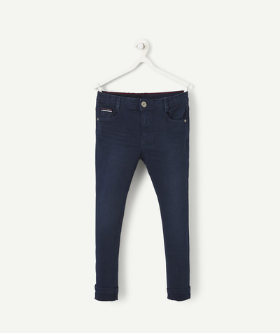 Trousers size + radius - NAVY BLUE SKINNY JEANS WITH PLUS SIZED WAIST