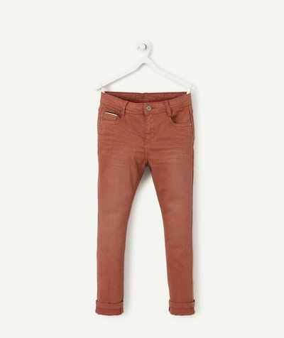 Trousers size + radius - BROWN SKINNY JEANS WITH PLUS-SIZED WAIST
