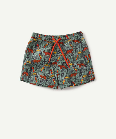 All collection radius - TROPICAL PRINT SHORTS