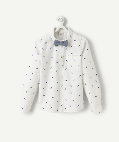 Shirt - Polo radius - PRINTED SHIRT WITH BOW TIE