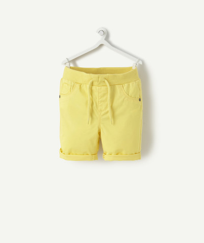 Shorts - Bermuda shorts family - YELLOW COTTON BERMUDA SHORTS