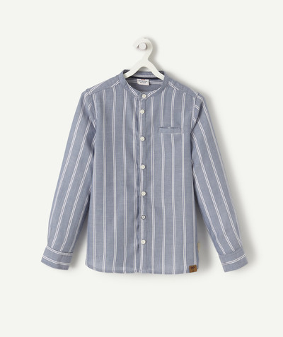 Shirt - Polo radius - GRANDAD-COLLARED SHIRT WITH A FANCY BUTTON FASTENING
