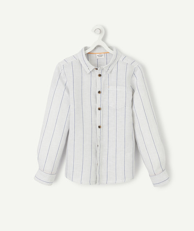 Shirt - Polo radius - STRIPED SHIRT IN LINEN