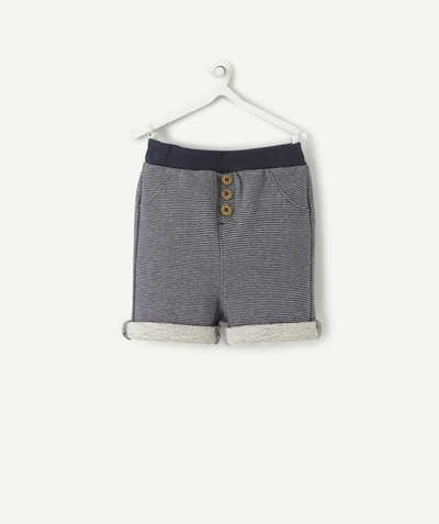 Shorts - Bermuda shorts family - NAVY BLUE STRIPED BERMUDA SHORTS
