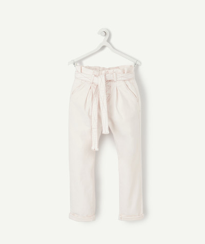 Toute la collection Rayon - LE PANTALON CAROTTE EN DENIM ROSE