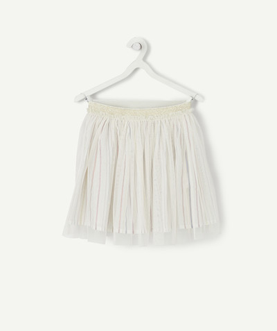 All Collection radius - SPARKLING STRIPED SKIRT WITH TULLE