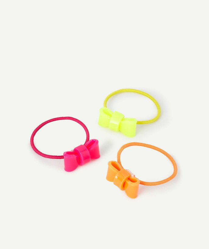 Baby-girl radius - SET OF THREE FLUORESCENT ELASTICS