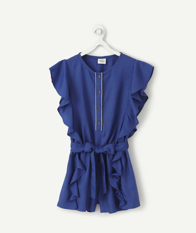 All Collection radius - BLUE FRILLY PLAYSUIT