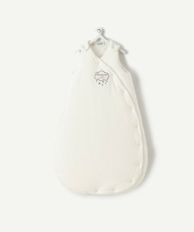 My first wardrobe radius - SLEEPING BAG FOR NEWBORNS IN VELVET MADE WITH RECYCLED FIBRES