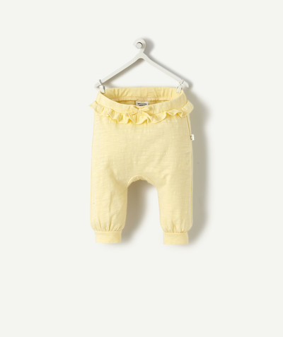 OUTLET radius - PALE YELLOW HAREM PANTS