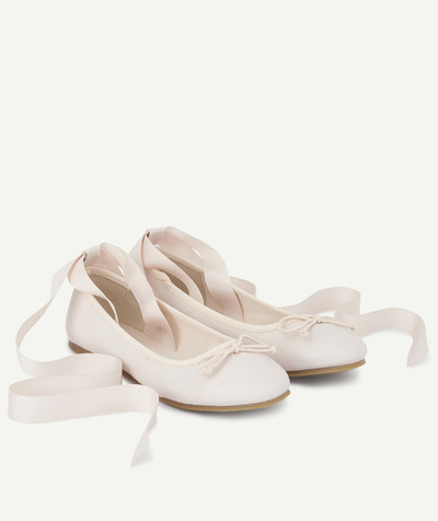 Outlet radius - PINK BALLET FLATS TO TIE