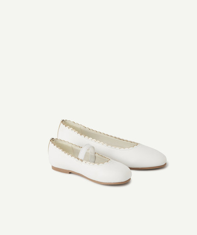 Chaussures, chaussons Rayon - LES BALLERINES BLANCHES EN SIMILI