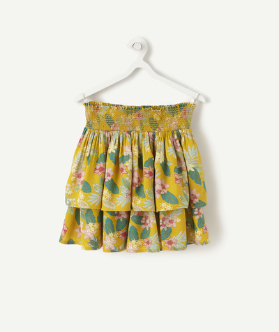 Outlet radius - YELLOW SKIRT, PRINTED AND SMOCKED
