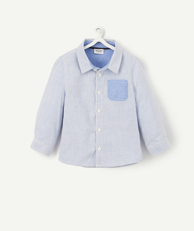 Shirt and polo radius - BLUE STRIPED COTTON SHIRT