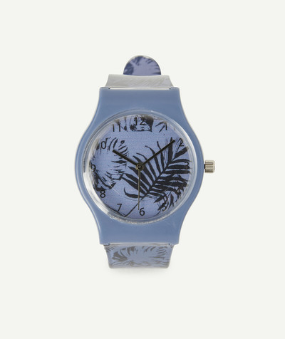Accessories radius - BLUE WATCH WITH A TROPICAL PRINT