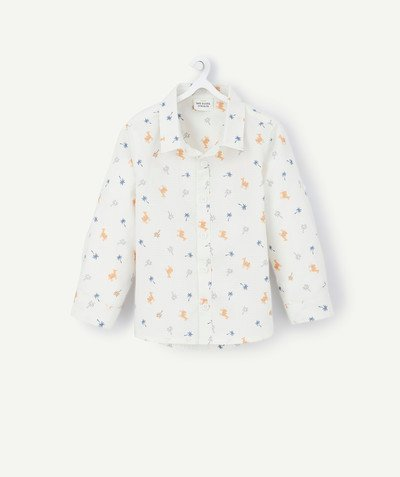 All collection radius - CREAM SHIRT WITH SAVANNA PRINT