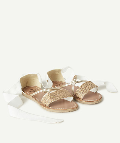 Special occasions' accessories radius - PLAITED SANDALS WITH RIBBONS