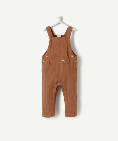 All collection radius - BROWN SEERSUCKER DUNGAREES