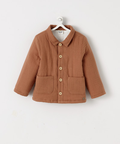 All collection radius - LINED JACKET IN CAMEL-COLOURED MUSLIN