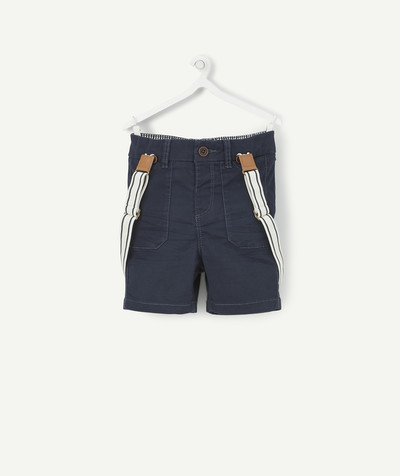 Special Occasion Collection radius - NAVY BLUE BERMUDA SHORTS WITH BRACES