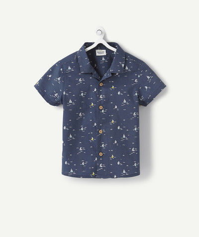All collection radius - SHIRT WITH A SAILING BOAT PRINT