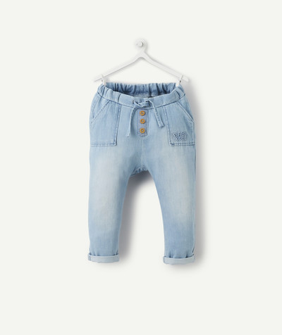 All collection radius - HAREM PANTS IN LIGHTWEIGHT DENIM