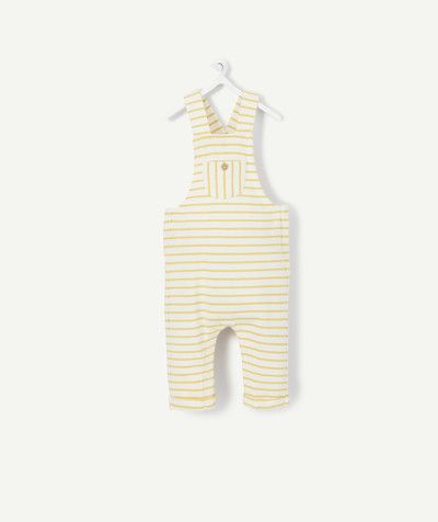 All collection radius - YELLOW AND WHITE  STRIPED COTTON DUNGAREES