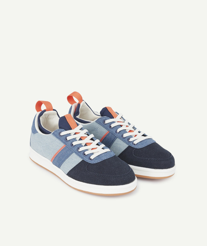 Shoes, booties radius - DENIM LOOK TRAINERS WITH ADJUSTABLE ELASTICATED LACES