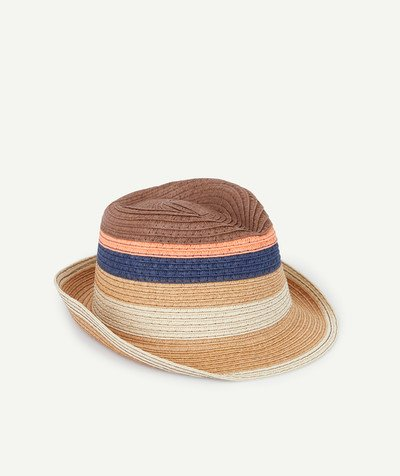 All collection radius - TRILBY HAT IN PRINTED STRAW