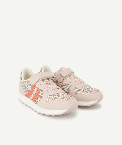 Outlet radius - PINK FLOWER-PATTERNED TRAINERS