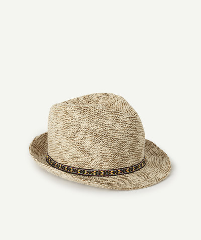 Collection plage Rayon - LE CHAPEAU TRIBLY ETHNIQUE EN FIL DE COTON