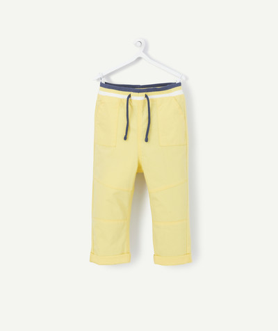 All collection radius - YELLOW CANVAS TROUSERS WITH AN ELASTICATED WAIST