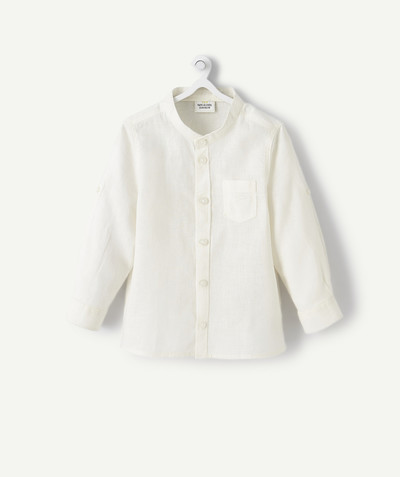 Shirt and polo radius - WHITE LINEN SHIRT