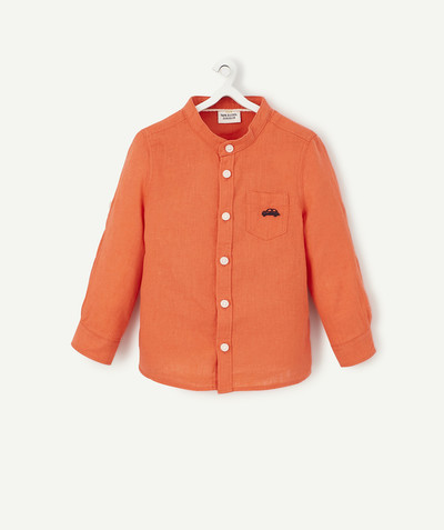 Shirt and polo radius - CORAL SHIRT IN LINEN