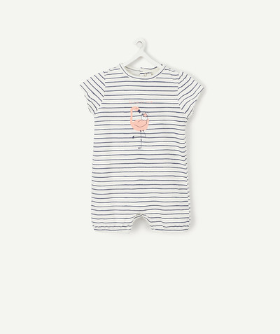 Essentials : 50% off 2nd item* family - STRIPED SLEEPSUIT IN COTTON