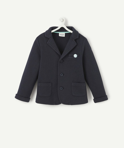 Special Occasion Collection radius - NAVY BLUE COTTON PIQUE JACKET