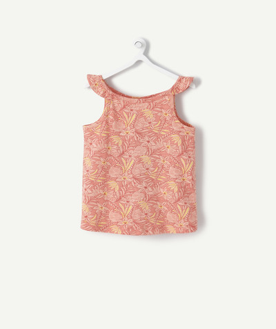 ECODESIGN radius - PINK PRINTED SLEEVELESS T-SHIRT IN ORGANIC COTTON