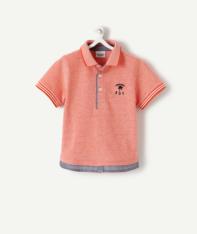 Shirt and polo radius - CORAL 2-IN-1 EFFECT POLO SHIRT