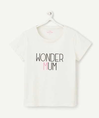 Family gets bigger capsule radius - CREAM WONDER MUM T-SHIRT IN ORGANIC COTTON