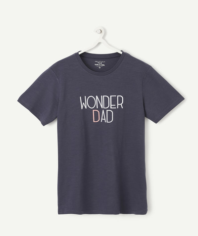 Family gets bigger capsule radius - NAVY BLUE WONDER DAD T-SHIRT IN ORGANIC COTTON