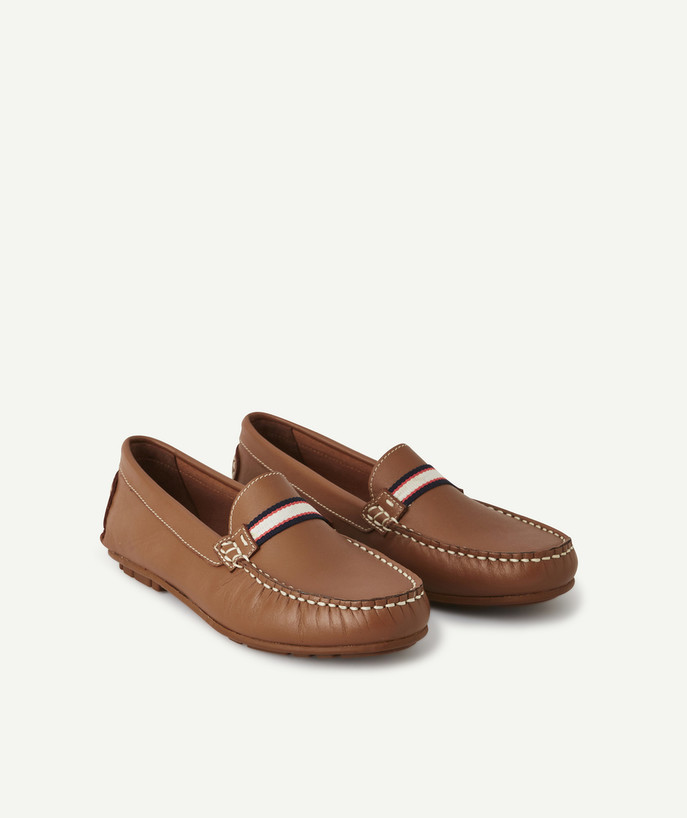 Shoes, booties radius - BROWN LEATHER MOCCASINS