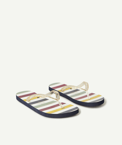Flip-flops radius - COLOURED AND STRIPED FLIP-FLOPS WITH GLITTER