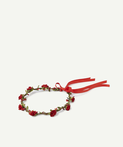Special occasions' accessories radius - RED CROWN OF FLOWERS