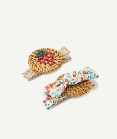 All Collection radius - PACK OF TWO HAIR SLIDES WITH WICKER DETAILS