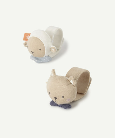 Unisex Newborn radius - TWO SENSORY RATTLES FOR FEET AND HANDS